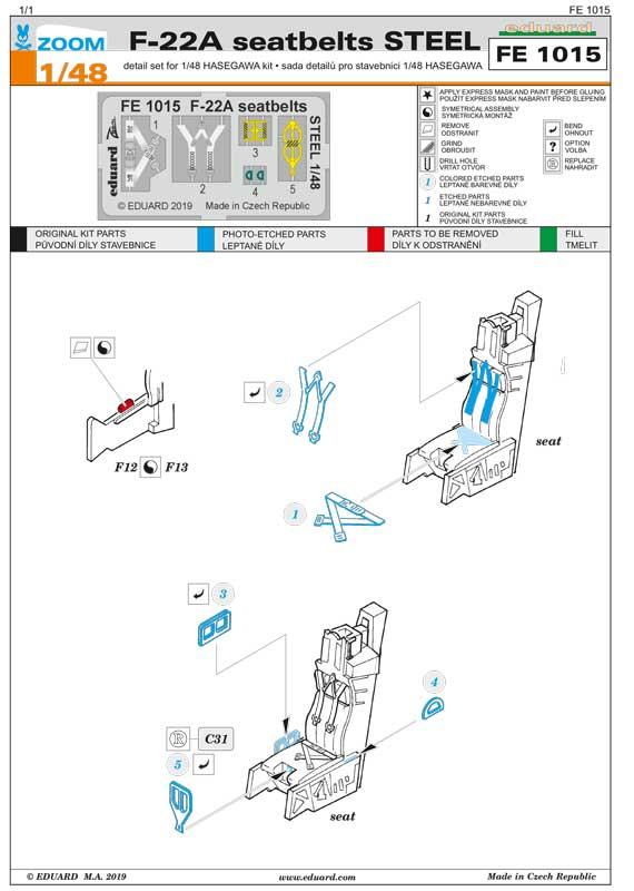 fotoincisioni eduard f-22 ss1015 istruzioni