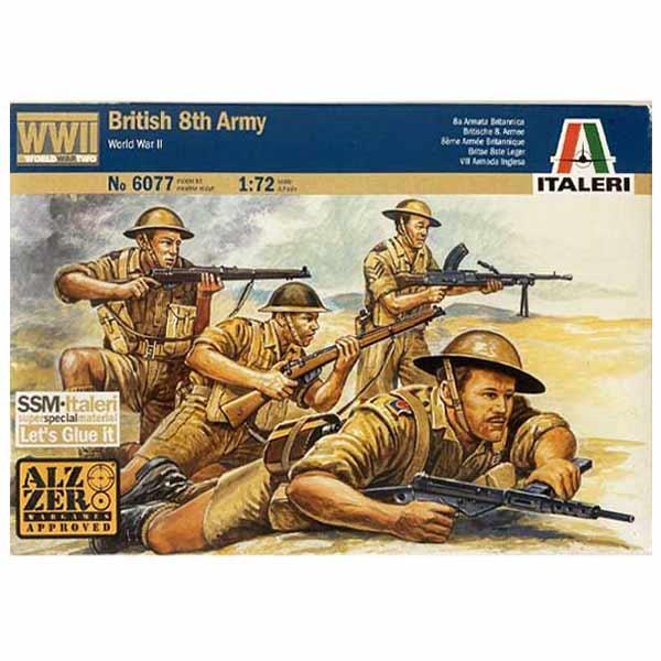 British 8th Army WWII ITALERI SCALA 1-72