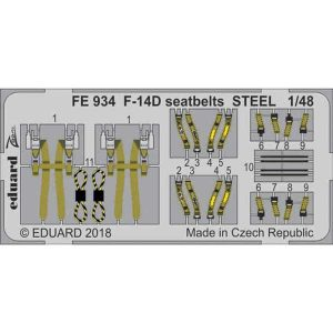 fotoincisioni cinture f-14 eduard fe934