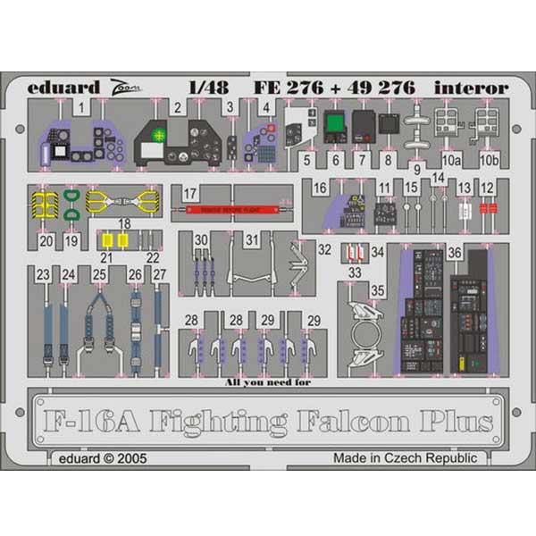 fotoincisioni f-16 a plus eduard fe276