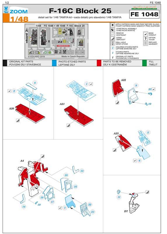 fotoincisioni-f-16C-eduard-fe1048-istruzioni-1