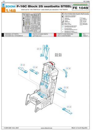 fotoincisioni f-16C eduard fe1049