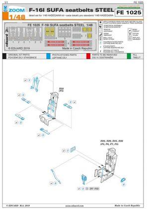 fotoincisioni f-16i eduard fe1025