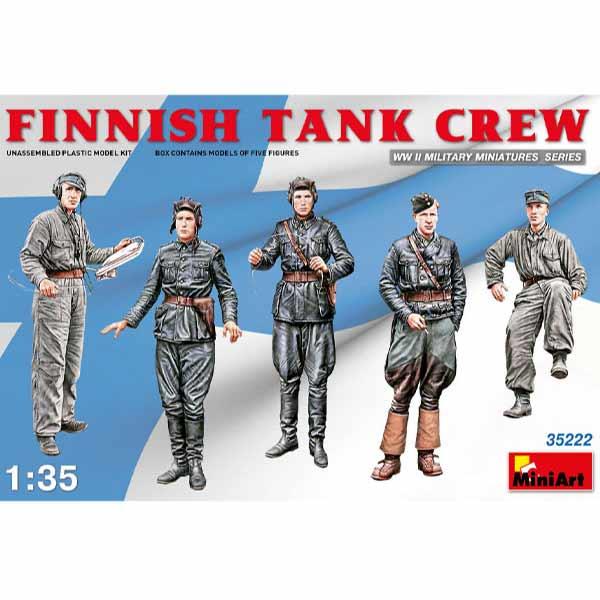 finnish tank crew miniart scala 1-35