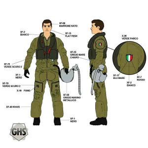 Pilota Militare Italiano Anni 90 AMI Colori