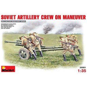 Soviet Artillery Crew on Maneuver WWII MINIART Scala 1:35