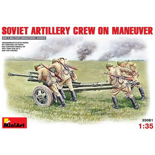 Soviet Artillery Crew on Maneuver WWII MINIART Scala 1:35