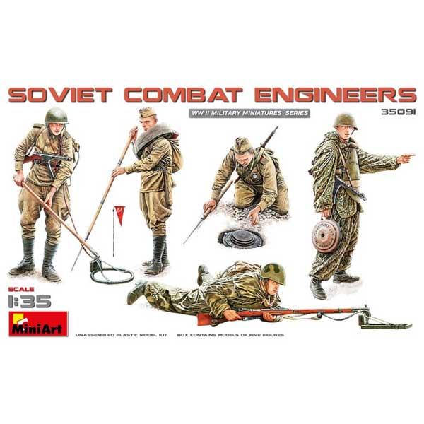 Soviet Combat Engineers WWII MINIART Scala 1:35