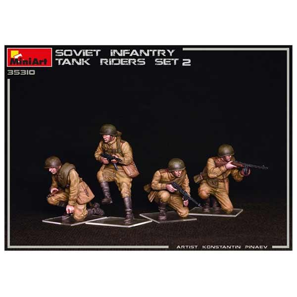 Soviet Infantry Tank Riders 2 Miniart scala 1/35