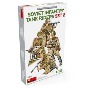 Soviet Infantry Tank Riders 2 Miniart scala 1/35