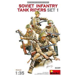Soviet Infantry Tank Riders (Set 1) Miniart Scala 1:35