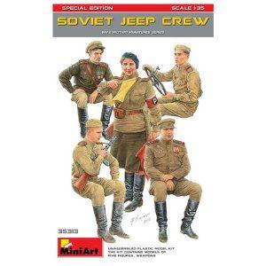soviet jeep crew miniart scala 1-35