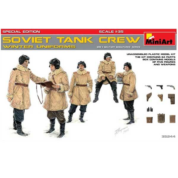 Soviet tank Crew S.E. Winter Miniart Scala 1-35