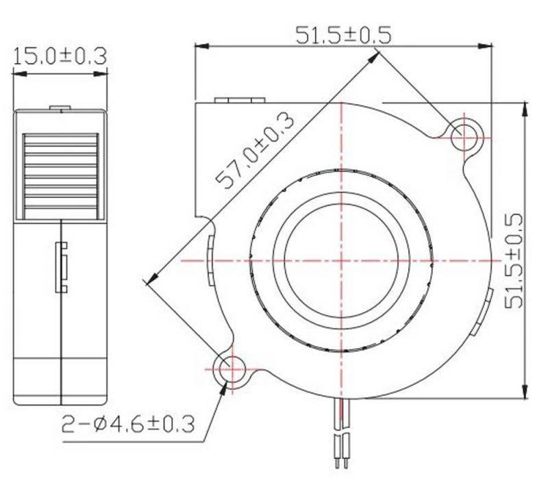ventola turbo fun 5015 raffreddamento stampante 3D