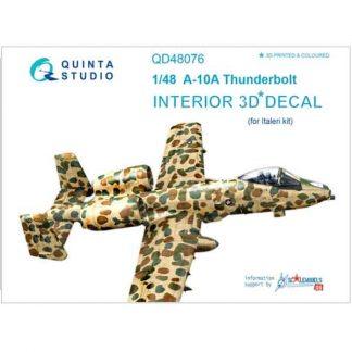 Decal 3D A-10A Thunderbolt Quinta Studio Scala 1:48