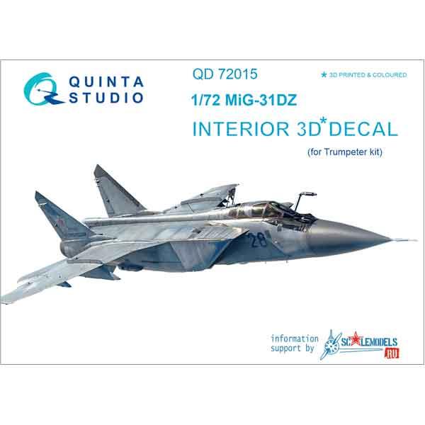 Decal 3D MIG-31DZ Quinta Studio