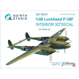 Decal 3D P-38F Quinta Studio