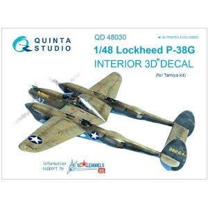 Decal 3D P-38G Quinta Studio