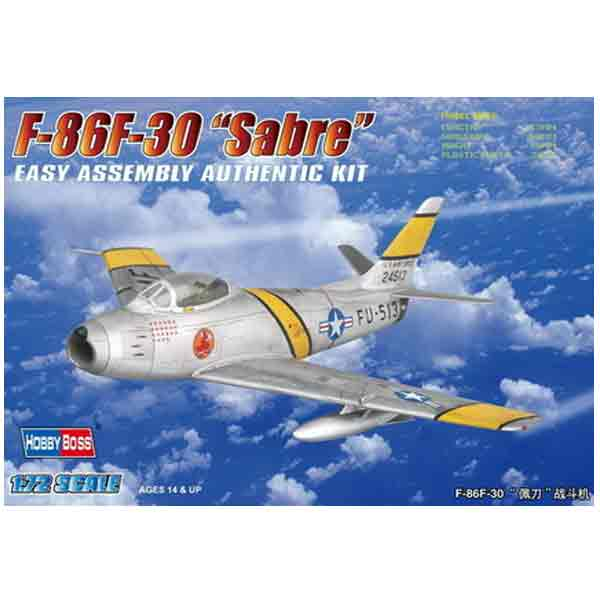 Hobby Boss F-86F-30 Sabre Fighter Scala 1:72