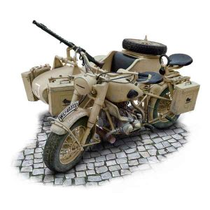 BMW R75 German Military Motorcycle with side car Italeri Scala 1:9 7403