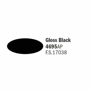 Colore italeri 4695 ap nero gloss