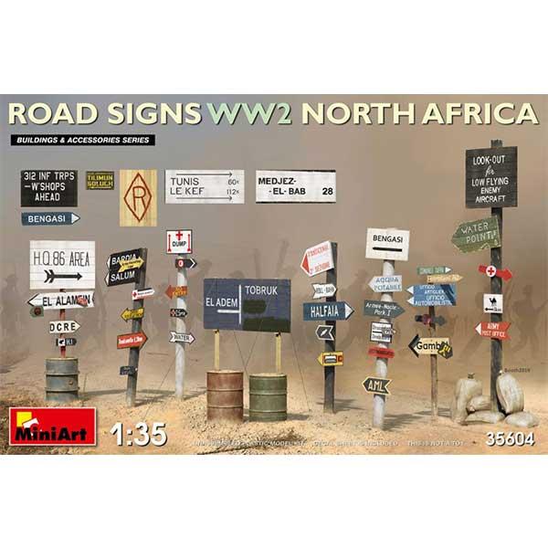 segnali stradali wwii africa miniart 35604