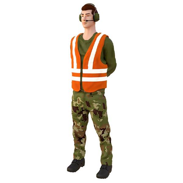 specialista capo volo in resina figurino per diorama