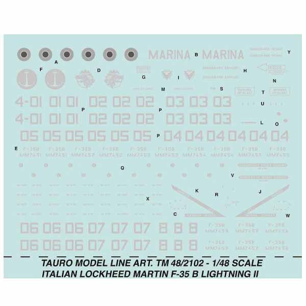 Decal Lockheed Martin F-35 Lightning II B 1/48
