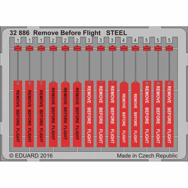 FOTOINCISIONI EDUARD REMOVE BEFORE FLIGHT STEEL SCALA 1:32