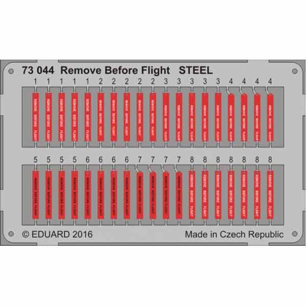 FOTOINCISIONI EDUARD REMOVE BEFORE FLIGHT STEEL SCALA 1:72