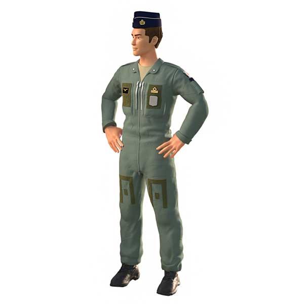 pilota militare aeronautica militare italiana in resina
