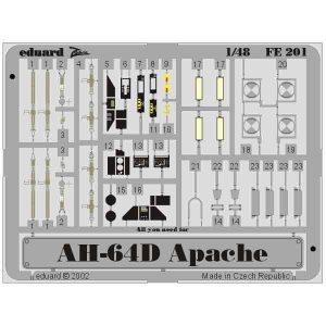 FOTOINCISIONI AH-64D APACHE SCALA 1:48 EDUARD 49201