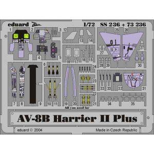FOTOINCISIONI COCKPIT AV-8B II Plus SCALA 1:72 EDUARD 73236