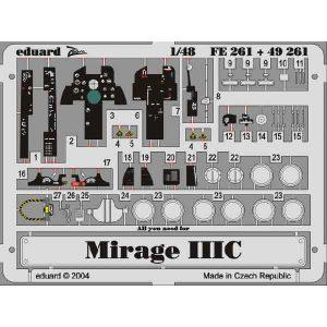 FOTOINCISIONI COCKPIT MIRAGE IIIC/CJ SCALA 1:48 EDUARD FE261
