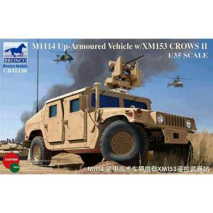 M1114 Veicolo Armato w/XM153 Crows II Bronco Models Scala 1:35
