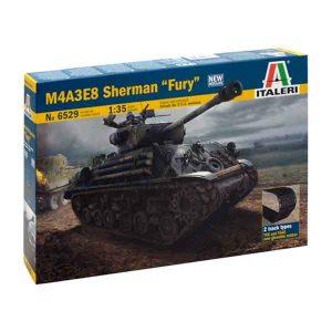"M4A3E8 Sherman ""Fury"" WWII Italeri Scala 1:35"
