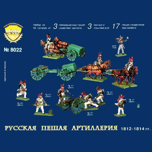 Russian Artillery 1812-1814 Zvezda Scala 1:72