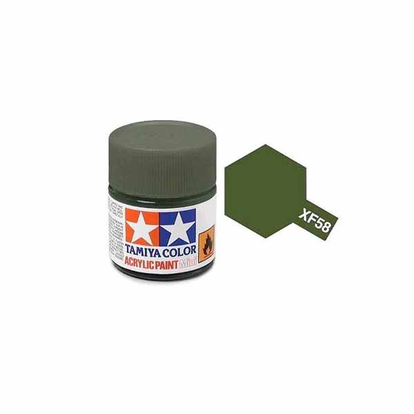 Colore tamiya XF 58 verde oliva opaco