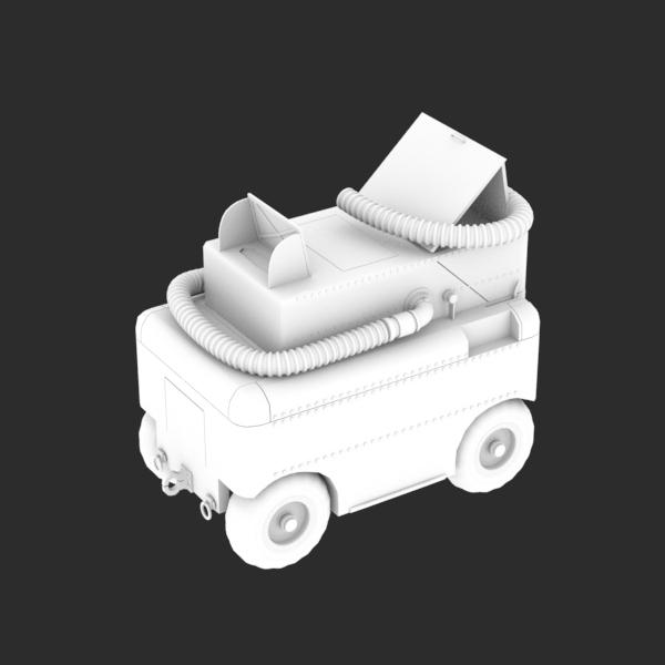 """MA-1A Start Cart """"Huffer"""" STL"""