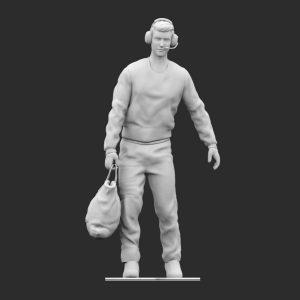 Operatore di terra anni 80 borsa stl
