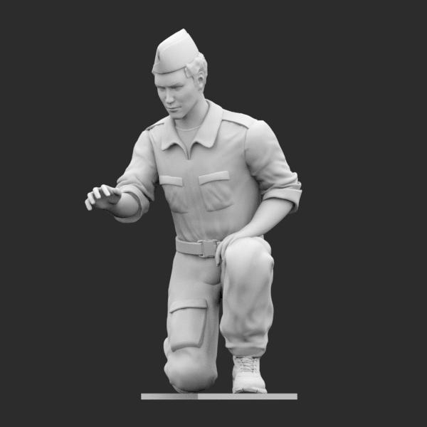 Operatore di terra WWII Inginocchiato B STL