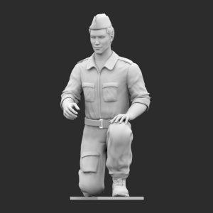 Operatore di terra WWII Inginocchiato A STL