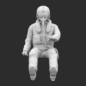 Pilota Navigatore Anni 90 AMI Seduto STL